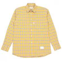 [MELROY] UNISEX Jay Check Shirts (YELLOW)