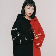 [NEVERCOMMON] [워너원 박지훈 착용] NEVER RING HOOD (Bk&Red)