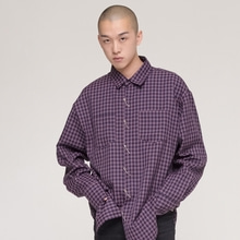 [NEVERCOMMON] oversized pattern shirt