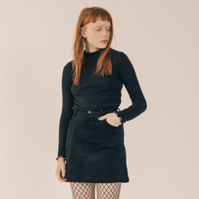 [RUNNINGHIGH] Running High Corduroy Mini Skirt - Black