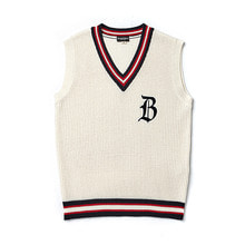 [BC by beyondcloset] [COLLECTION LINE]CLASSIC LOGO KNIT VEST IVORY