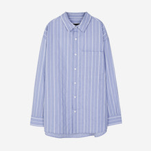 [Andersson bell]STRIPE BOX SHIRT atb156m - BLUE