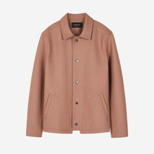 [Andersson bell]JOHANSSON WOOL COACH JACKET awa108m - PINK