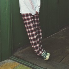 [BASEMOMENT] (20%할인) Flannel Check Pants - Red