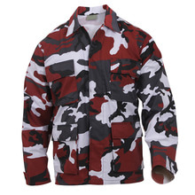 [Rothco] Rothco Color Camo BDU Shirt - Red
