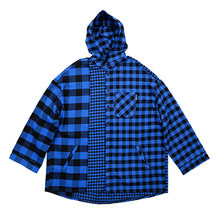 [AJOBYAJO]Over Twofold Hood Shirt - Blue