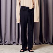 [A PAPER CUT] (10%할인) Unbalance Slacks - Black (9/25 일괄배송)