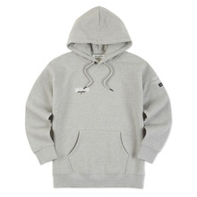 [Andersson bell]UNISEX LAYER EMBROIDERY HOODIE atb161u - Grey
