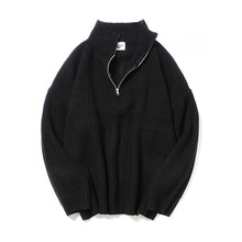 [16%할인] [파르티멘토]Zip Turtle Neck Knit Black