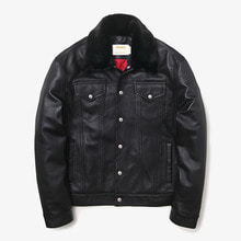 [MAHAGRID] [23% 할인]HEAVY VANGUARD JACKET(LAMBSKIN) BLACK