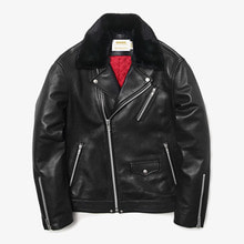 [MAHAGRID] [23% 할인]HEAVY W RIDERS JACKET(LAMBSKIN) BLACK