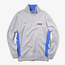 [MAHAGRID] SIDE LOGO HALF ZIP ANORAK GREY