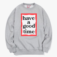 [Have a good time] FW17 Frame Crewneck - Grey