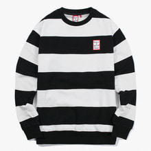 [Have a good time] FW17 Stripe Crewneck - Black/White