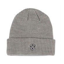 [INDEPENDENT] Cross Ribbed Long Shoreman Beanie Hat - Grey
