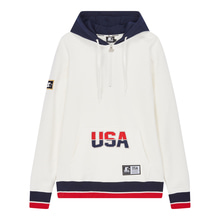 [STARTER] USA Sweat Hoodie - White