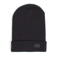 [UNIVERSAL CHEMISTRY] Metal Logo Long Beanie(Charcoal)
