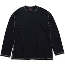 [20% 할인] [THIRD CONNECTION] 17AW OUT SIDE SEAM-LONG SLEEVE T-SHIRTS (BLACK)