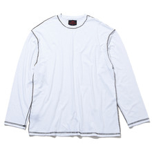 [20% 할인] [THIRD CONNECTION] 17AW OUT SIDE SEAM-LONG SLEEVE T-SHIRTS (WHITE)