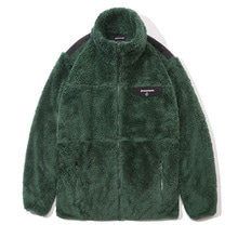 [GROOVERHYME] 2017 FLUFFY YARN FLEECE FULL ZIP-UP (GREEN) [GFZ001F43GR]