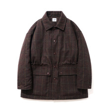 [15%할인][파르티멘토]Check Short Coat Brown