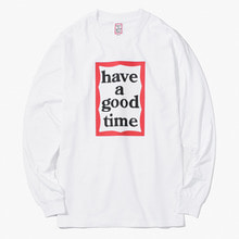 [Have a good time] FW17 Frame L/S Tee - White