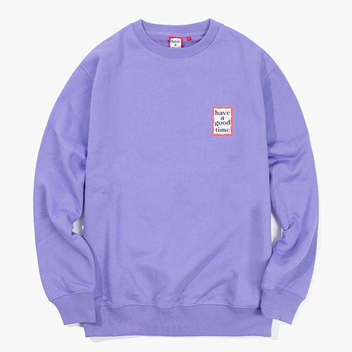 [Have a good time] Mini Frame Crewneck - Lavender