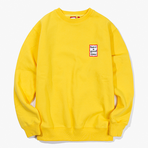 [Have a good time] Mini Frame Crewneck - Mustard