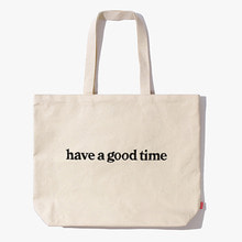 [Have a good time] FW17 Side Logo Tote Bag - Natural