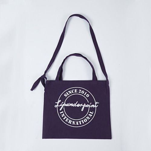 [LIPUNDERPOINT] LOGOPLAY ECHO BAG_WINE
