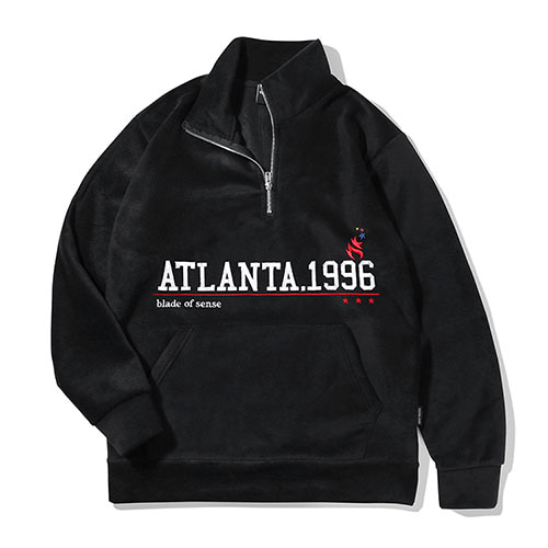 [TENBLADE] Atlanta 1996 Fleece Zipup_Black