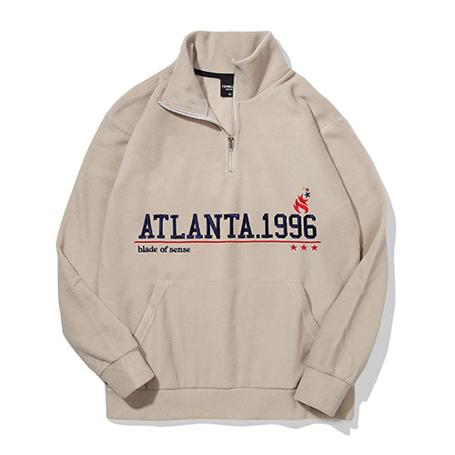 [TENBLADE] Atlanta 1996 Fleece Zipup_Cream