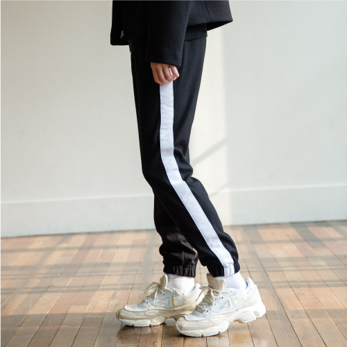 [NOT N NOT]Heavy line jogger pants - White