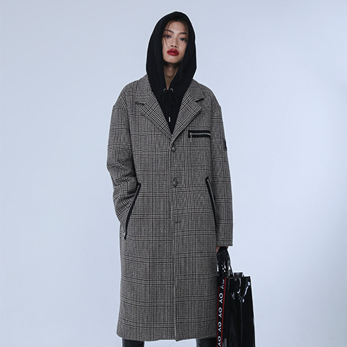 [OY] OVERSIZE CHECK COAT