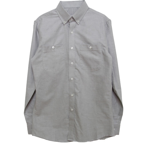 [MARSRAIGHT]OXFORD POCKET SHIRT-GRAY