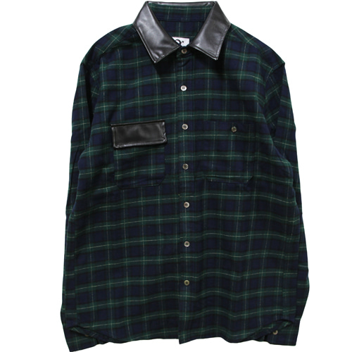 [MARSRAIGHT]TARTAN CHECK SHIRT-GREEN