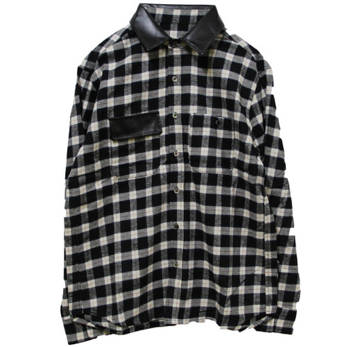 [MARSRAIGHT]TARTAN CHECK SHIRT-WHITE