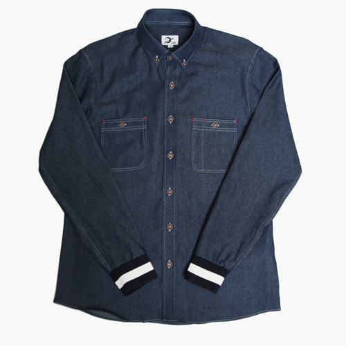 [MARSRAIGHT]BANDING SHIRT-DENIM