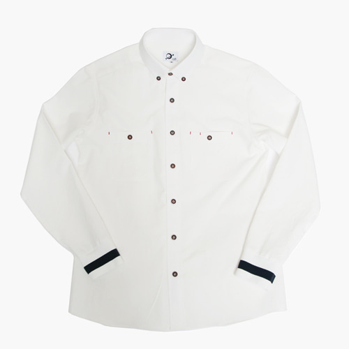 [MARSRAIGHT]BANDING SHIRT-WHITE
