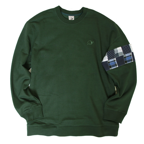 [MARSRAIGHT]PATCH CREWNECK-GREEN