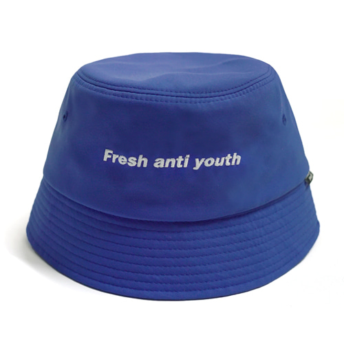 [Fresh anti youth] Logo Bucket Hat  - Blue