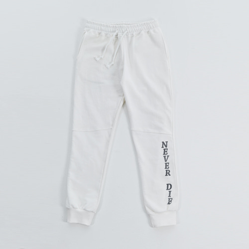 [20%할인] [LIPUNDERPOINT]  SWEAT PANTS_WHITE