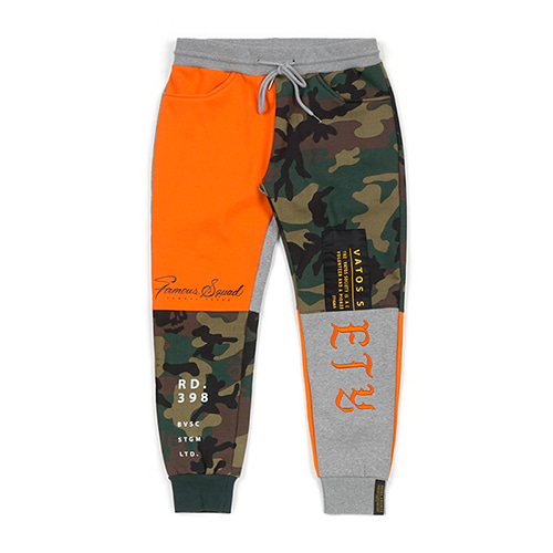 [STIGMA]COMBINE HEAVY SWEAT JOGGER PANTS - ORANGE