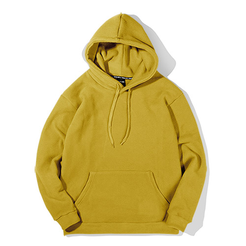 [TENBLADE] [Unisex] Loose Fit Fleece Warm Hood-mustard