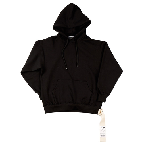 [CAMINO STREET] UNISEX OUT FOCUS WEAVING HOODIE - BLACK(기모)