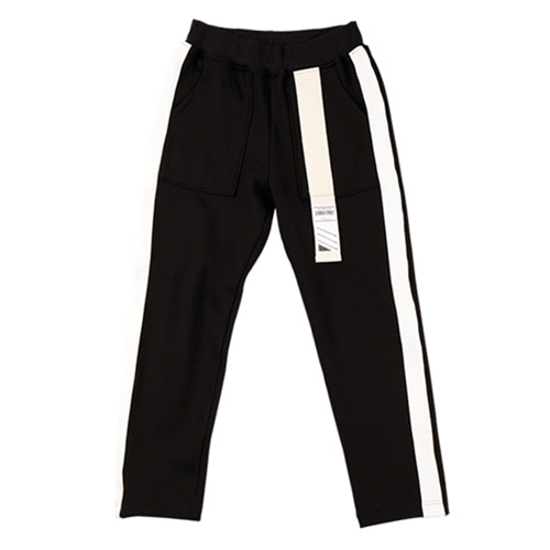 [CAMINO STREET] UNISEX OUT FOCUS WEAVING PANTS - BLACK(기모)
