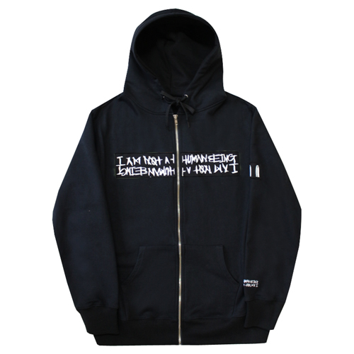 Basic Logo Patch Zip Up Hodie Jacket