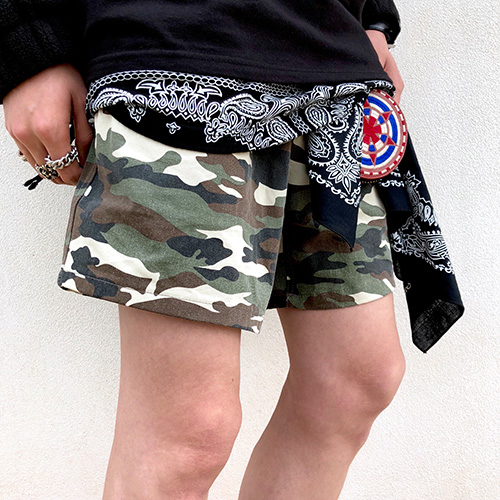[4BLESS] Camo Shorts (Beige/Brown)
