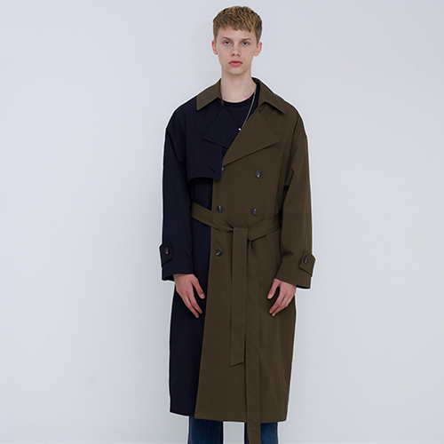 [OY] OVER TRENCH COAT - MIX