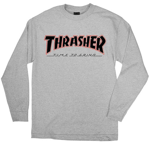 [Independent x Thrasher] TTG L/S Regular T-shirt - Ath Hthr